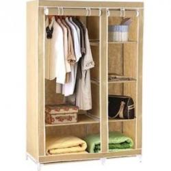 Folding Canvas Wardrobe/Cupboard (120 x 50 x 175 cm)