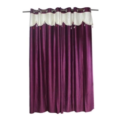 Kuruvi Tissue Embroidered Curtain in Dupain Crussed Silk Material - 1 Pc (48 x 78 inches)