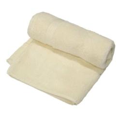 Cream Colored Medium Sized Cotton Hand Towel