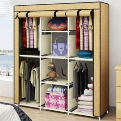 Fancy Portable Cloth Cabinet/Wardrobe (135 x 45 x 175 cm)