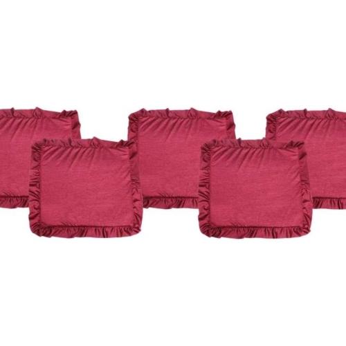 Sofa/Floor Chakati in Crussed Silk Jhallar Material (5 pc set)