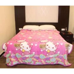 Light Purple Double Bed Thin Fleece Blanket