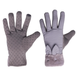 Wind Stopper Touch Screen Anti Skid Thermal Fleece Gloves For Ladies